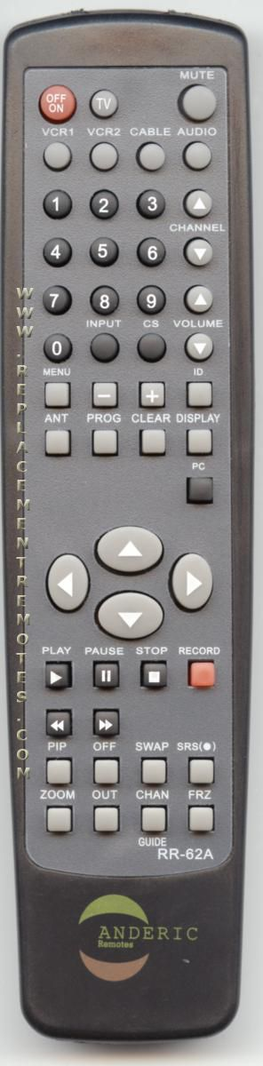 ANDERIC RR62A Proscan TV Remote Control