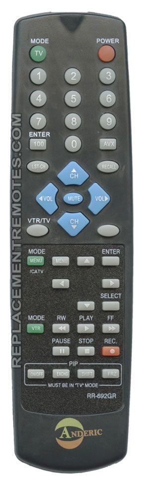 ANDERIC RR692GR Hitachi TV Remote Control