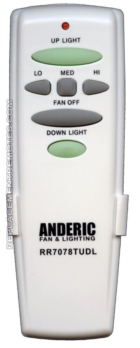 Buy Anderic Rr7078tudl Ceiling Fan Remote Control