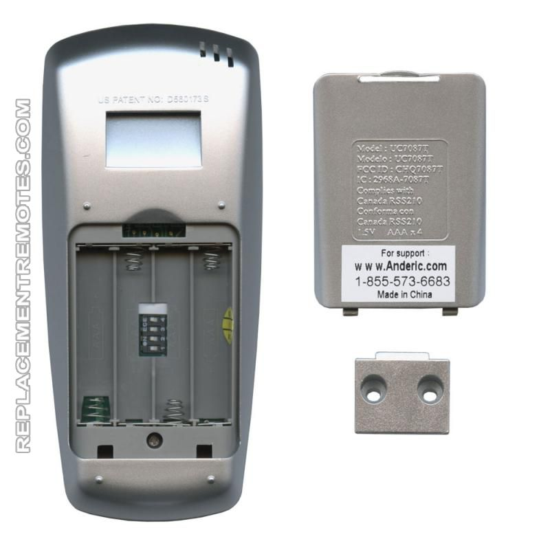 Buy Anderic Uc7087t With Fan Timer For Hampton Bay Rr7087t Ceiling Fan Remote