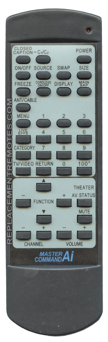 ANDERIC RRC672 JVC TV Remote Control