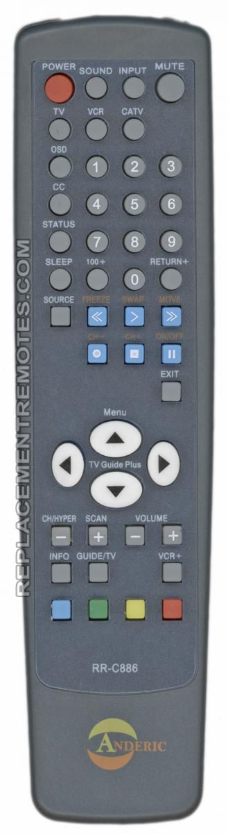 ANDERIC RRC886 for JVC TV Remote Control