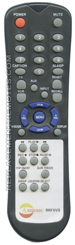 ANDERIC RRFXVG SANYO TV Remote Control