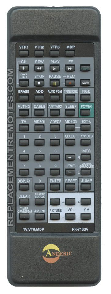 sony tv remote control replacement. the original sony rm783 remote control sony tv replacement