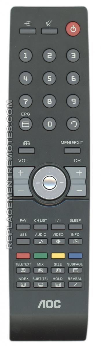 AOC RC2444601/01 TV Remote Control