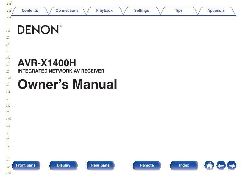 DENON AVRX1400HOM Operating Manual