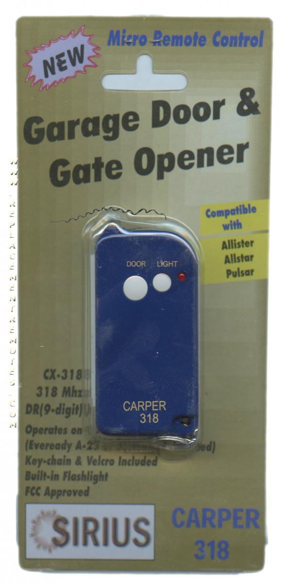 Buy Carper 318 Binary 9 Dip Switch Keychain Garage Door Opener