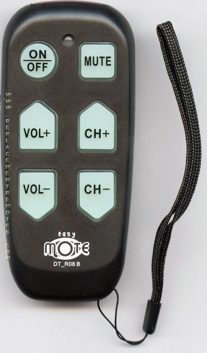 Continu.us Black Big Button Jumbo Senior Assisted Living Simple Easy Mote 1-Device Universal Remote Control