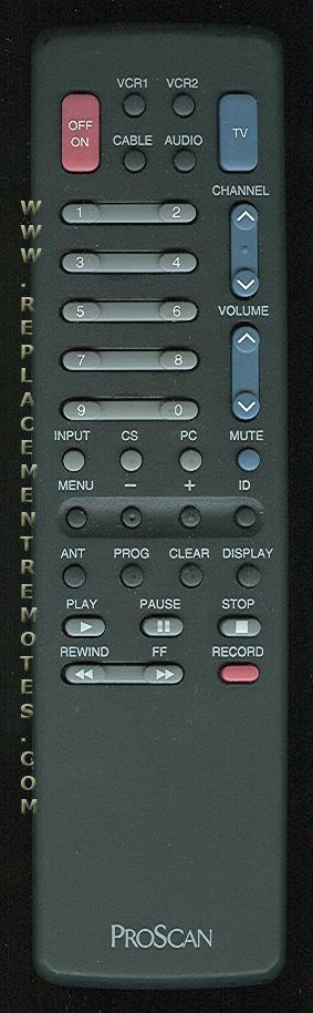 Proscan-RCA CRK62F TV Remote Control