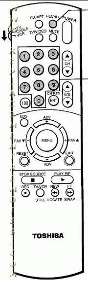 TOSHIBA CT9794 Remote Control