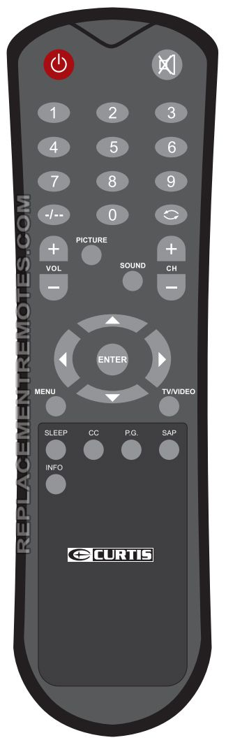 CURTIS LCD1533rem TV Remote Control