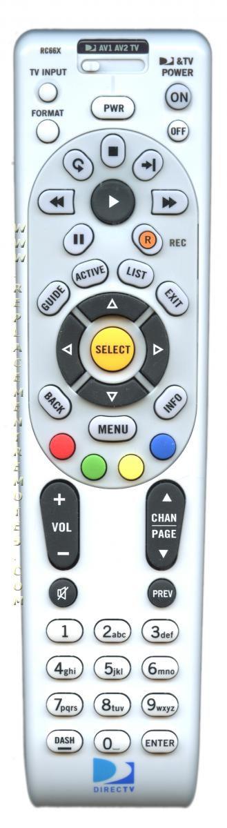 DirecTv RC66X DIRECTV Remote Control