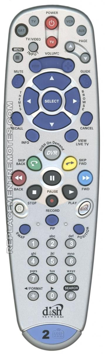 Buy Dish-Network 6 4 IR/UHF PRO -153638 Satellite Receiver Remote Control