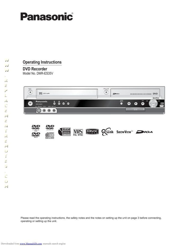 Buy Panasonic DMRES35VOM DMRES35V Operating Manual