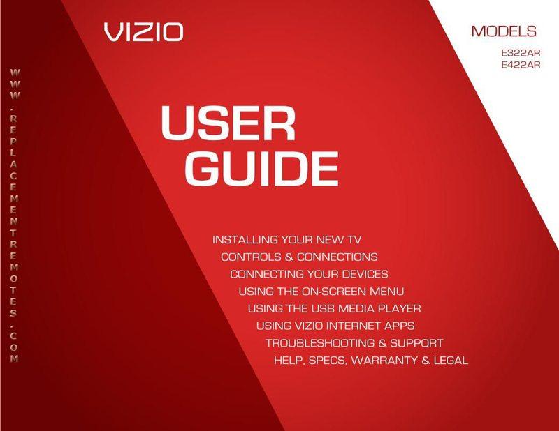 buy vizio xrt110om 098003060940 e322ar e422ar operating manual