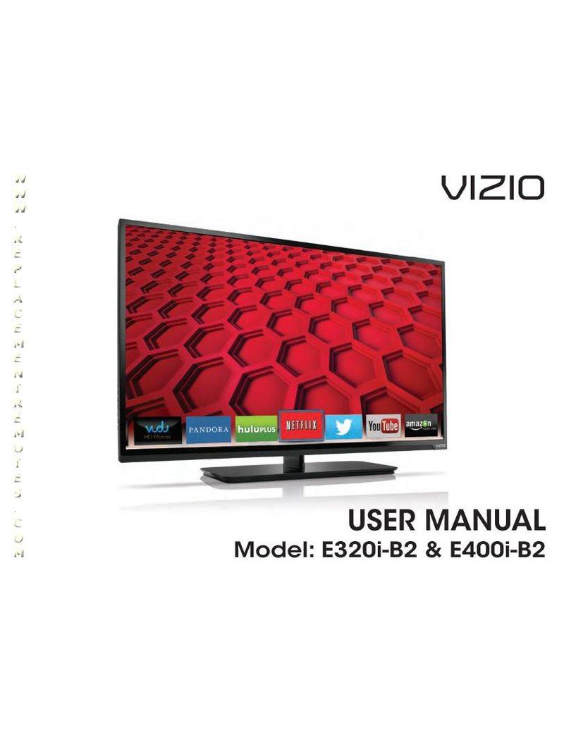 VIZIO E400IB2OM Operating Manual