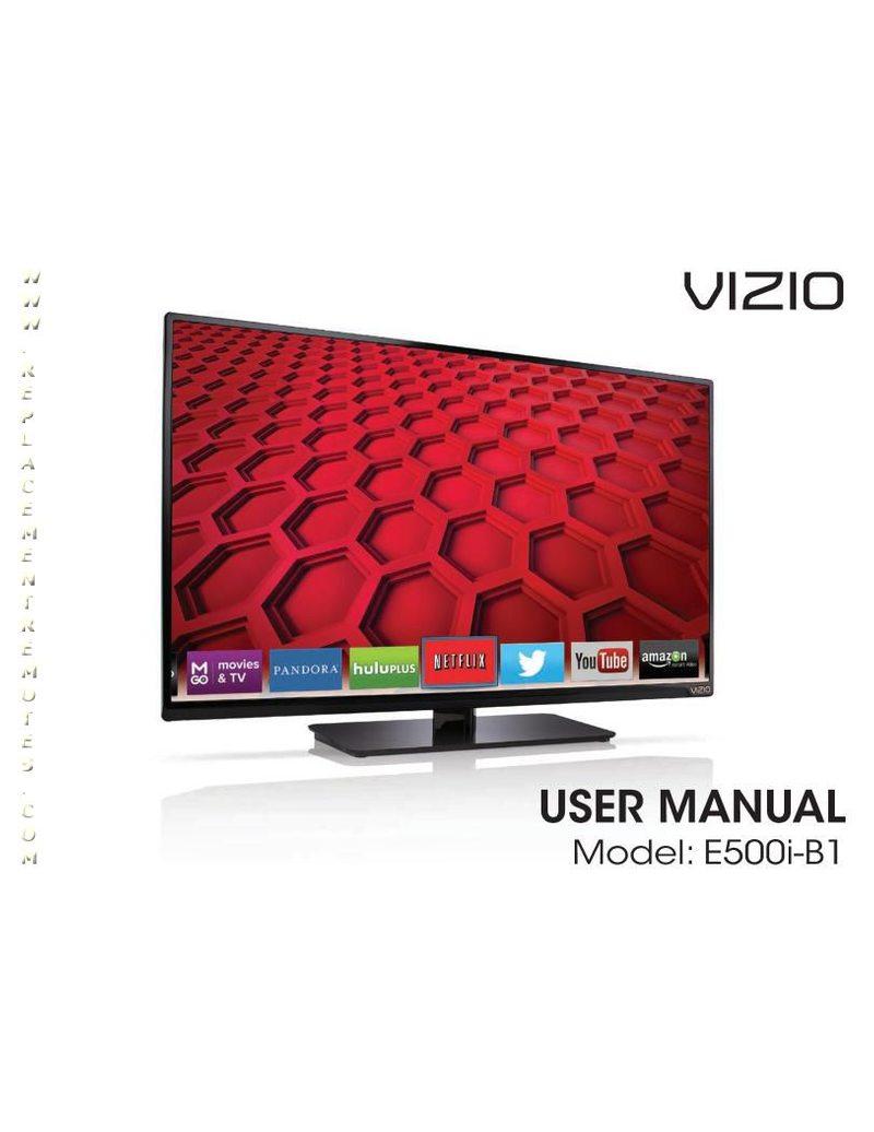 VIZIO E500iB1OM Operating Manual