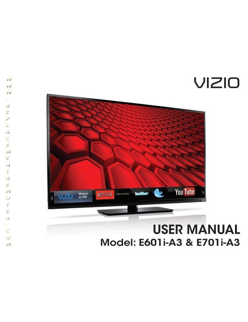 VIZIO E701IA3EOM Operating Manual