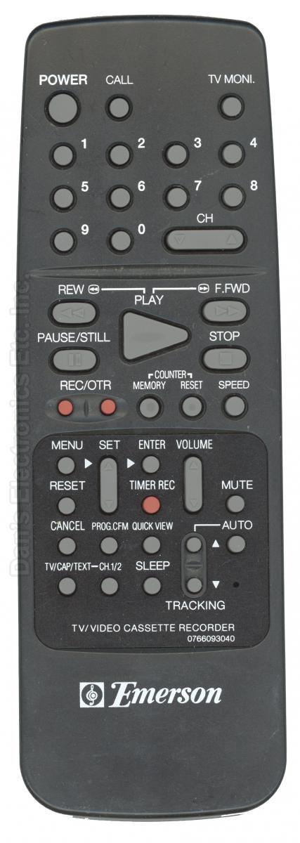 EMERSON 0766093040 VCR Remote Control