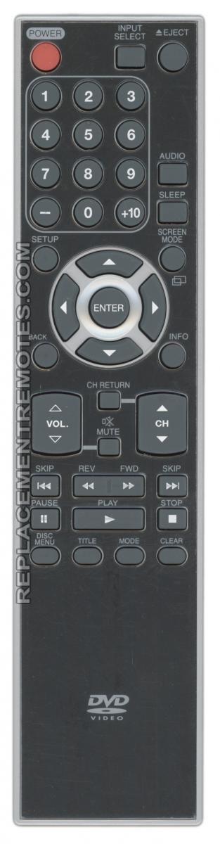 FUNAI NF033UD TV/DVD Combo Remote Control