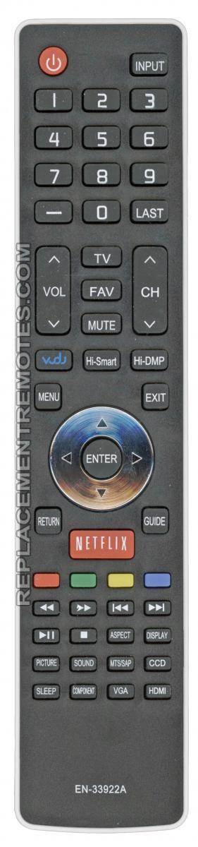 Anderic Generics EN33922A For Hisense TV Remote Control