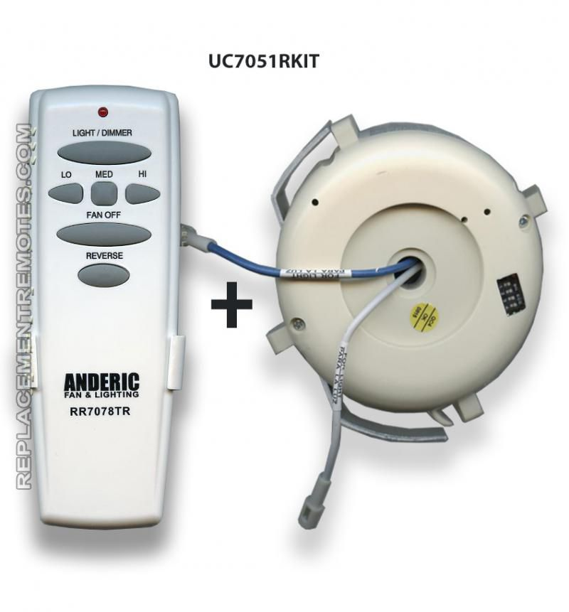 Buy Anderic Rr7078tr Uc7051r Replacement Ceiling Fan Kit For Hampton Bay Uc7051rkit