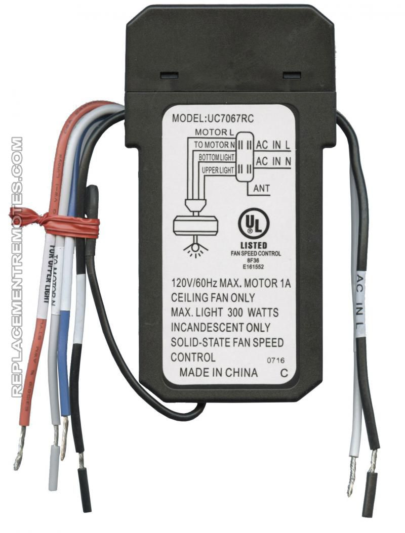 hampton bay_uc7067gmrx_5 buy anderic uc7067gmrx replacement ceiling fan receiver for uc7067rc wiring diagram at alyssarenee.co