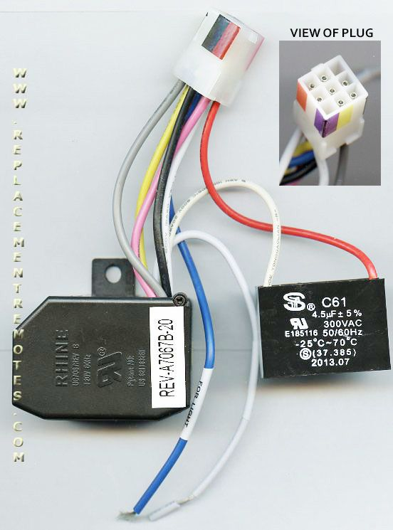 hampton bay_uc7067revb_2 buy anderic uc7067revb replacement ceiling fan receiver reverse hunter fan remote receiver wiring diagram at bayanpartner.co
