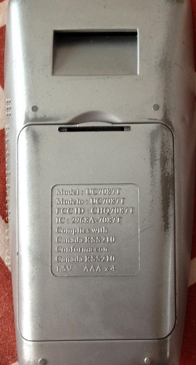 Buy Hampton Bay Chq7087t Uc7087tr With Reverse Uc7087tr