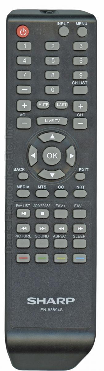 SHARP EN83804S TV Remote Control