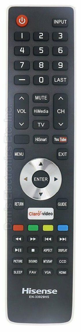HISENSE EN33929HS TV Remote Control