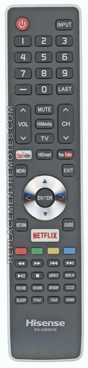 HISENSE EN33933HS TV Remote Control