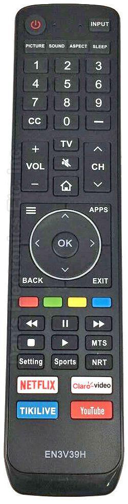 HISENSE EN3V39H TV Remote Control