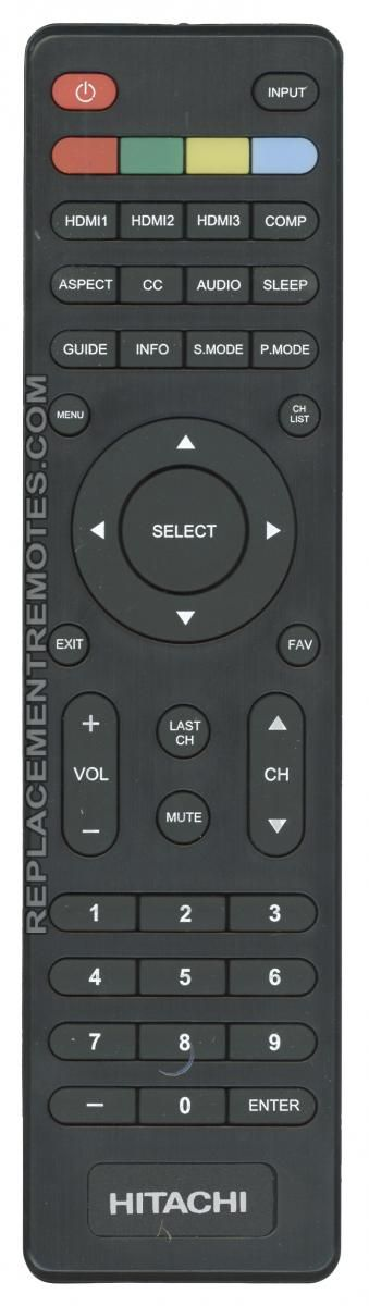 HITACHI 504Q4836101 TV Remote Control