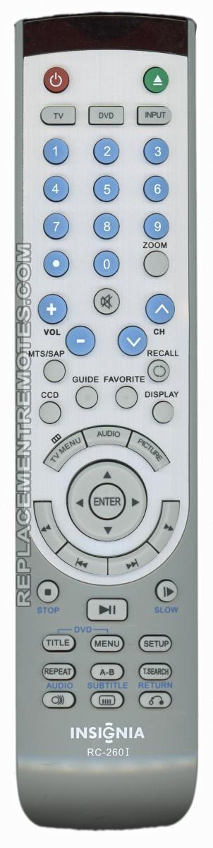Buy INSIGNIA RC-260I RC260I INSIGNIA -ES06195 TV/DVD Combo Remote Control