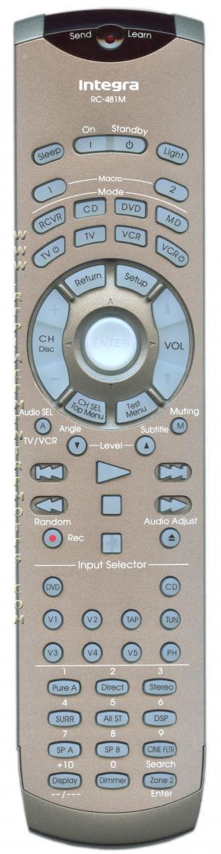 INTEGRA RC481M Remote Control