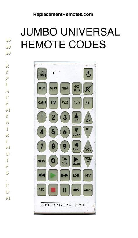 Download Free Generic Jumbo Codes Jumbo001om Operating Manual