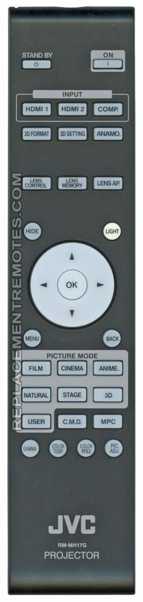 JVC RMMH17G Projector Remote Control