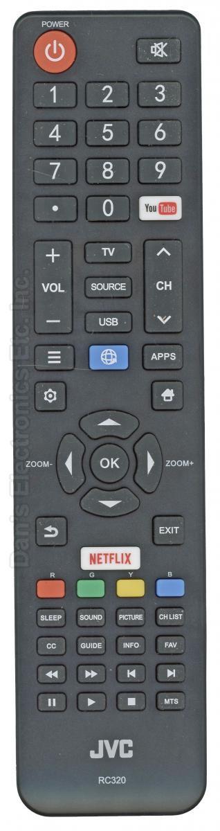 JVC RC320 XM RADIO Remote Control