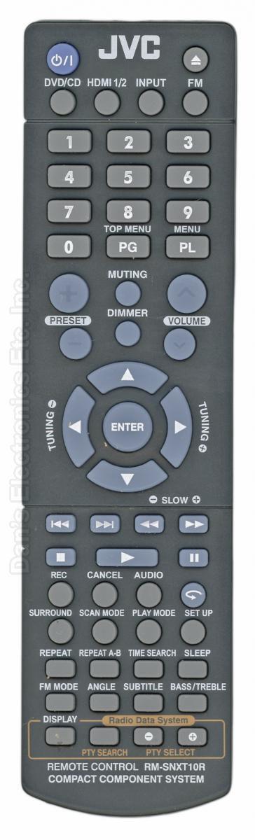 JVC RMSNXT10R Audio System Remote Control
