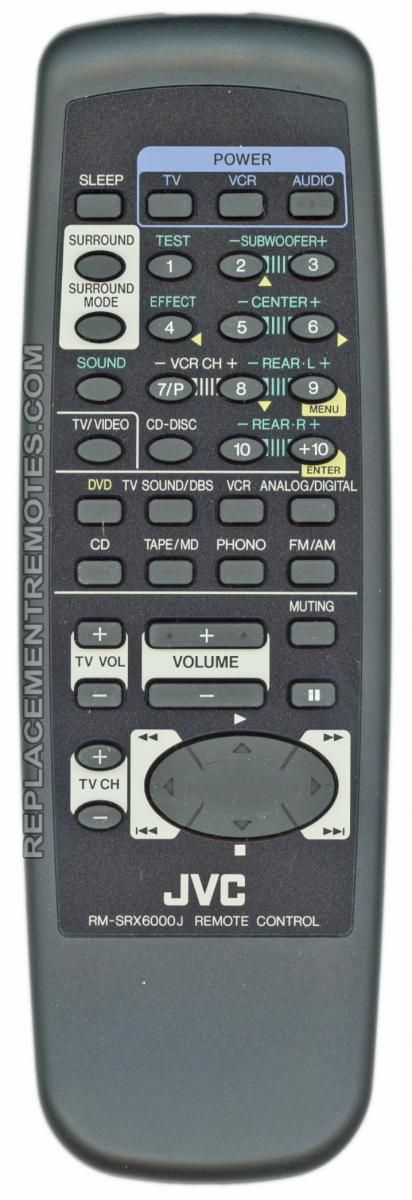 JVC RMSRX6000J Audio/Video Receiver Remote Control