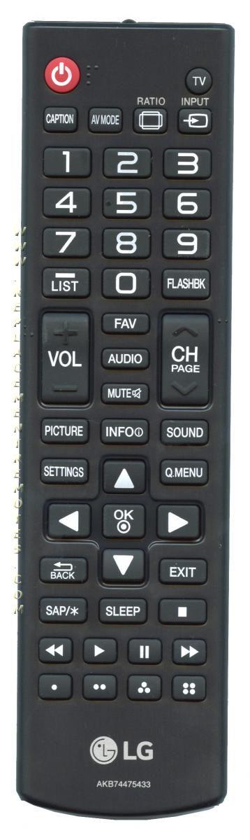 LG AKB74475433 TV Remote Control