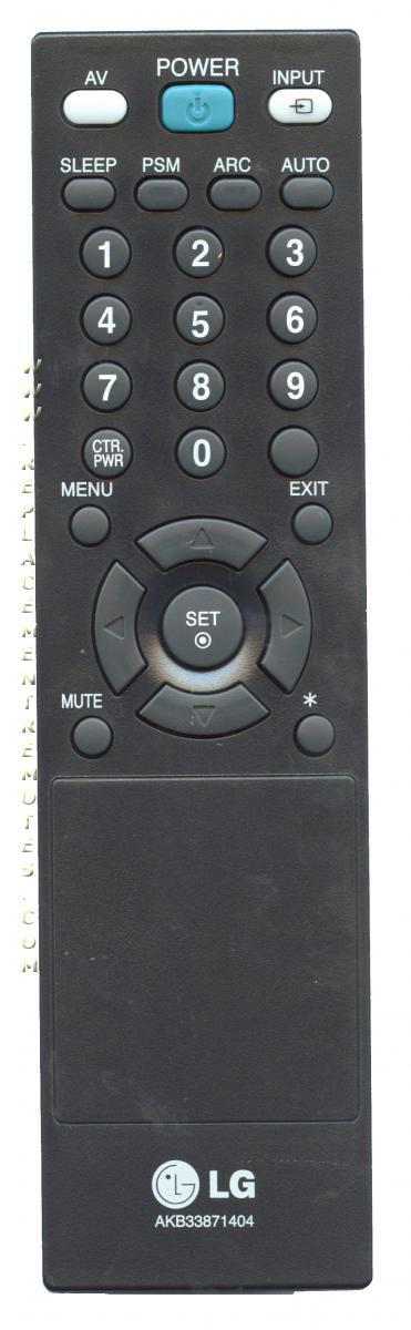 LG AKB33871404 TV Remote Control