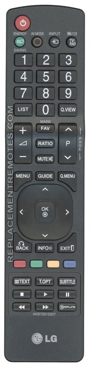 LG AKB72915207 TV Remote Control