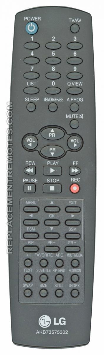 LG AKB73575302 TV Remote Control