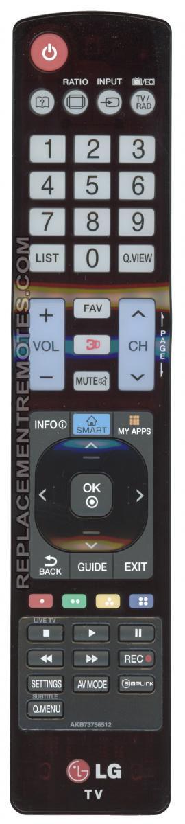 Buy LG AKB73756512 TV Remote Control