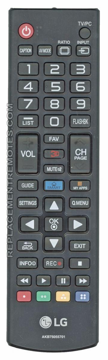 LG AKB75055701 TV Remote Control