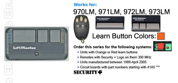 Buy Liftmaster 893max 3 Button Visor Remote Control Garage
