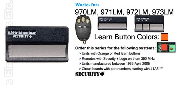 Buy Liftmaster Hbw1241 971lm 390mhz Security Plus Garage