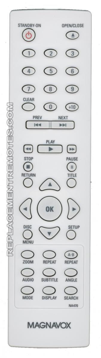 Magnavox NA470 Player Remote Control for LTV32W3 MWD7006
